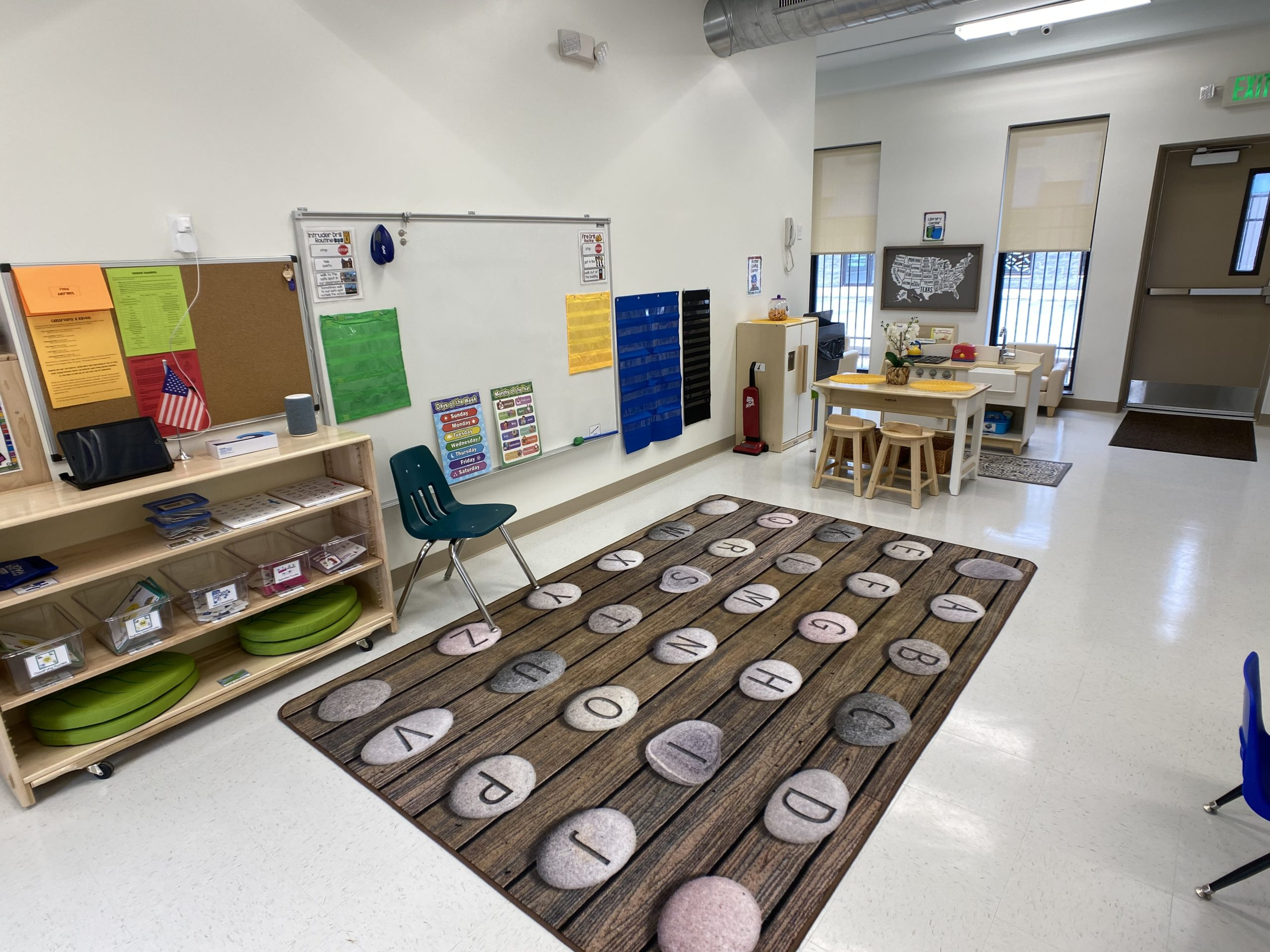 children's learning area - bulletin boards
