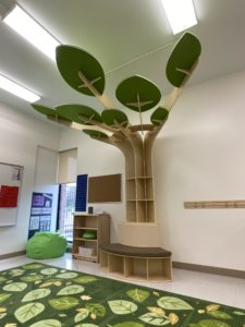 children's learning area - reading
