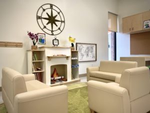 children's learning area - couch