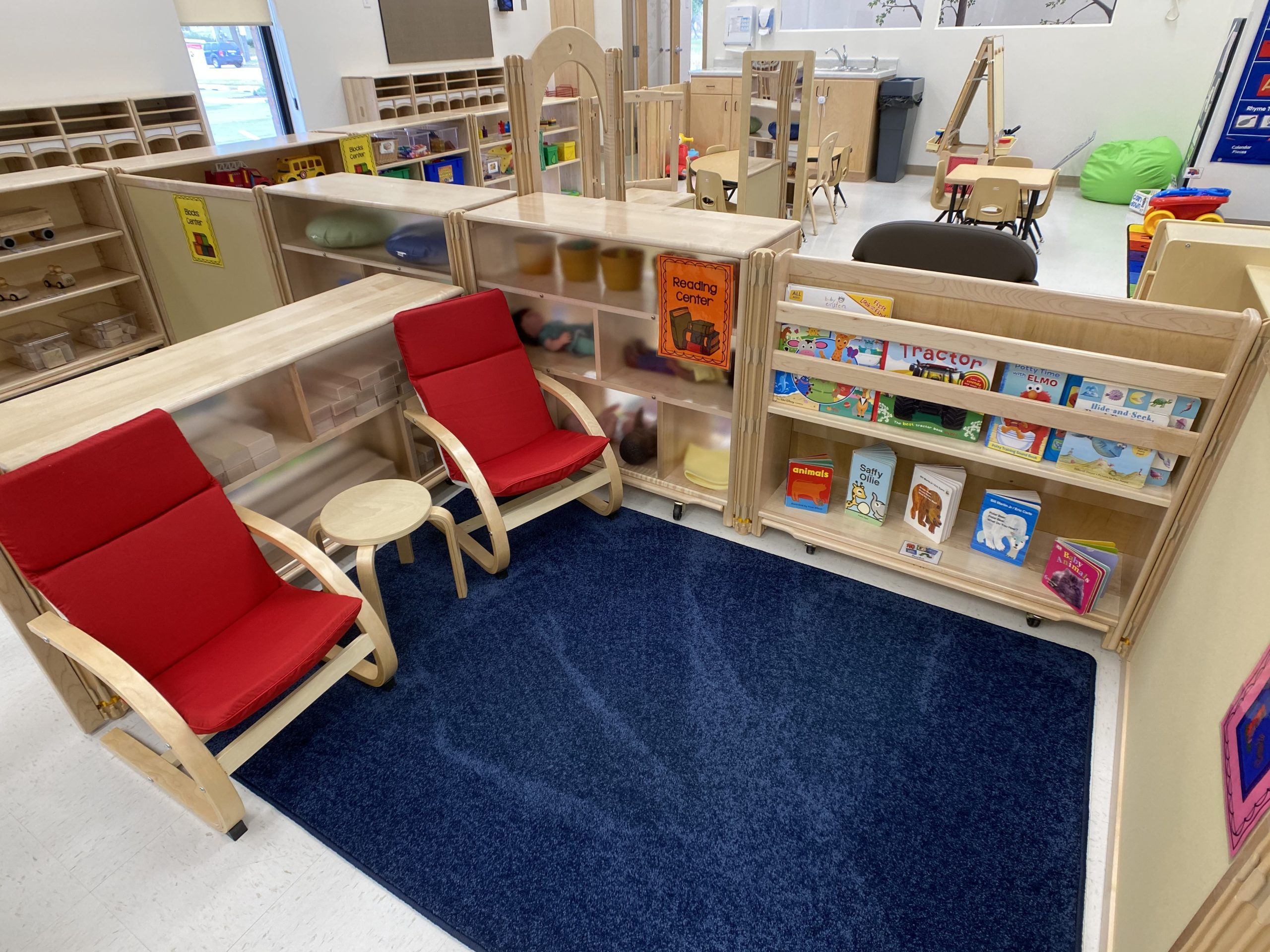 children's learning area - reading area with chairs