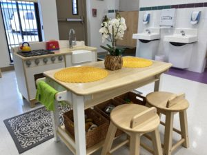 children's learning area - kitchen