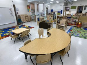 children's learning area - tables